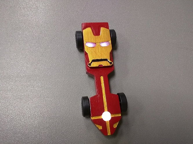 Iron Man Pinewood Derby Car With Led Lights Projects Inventables