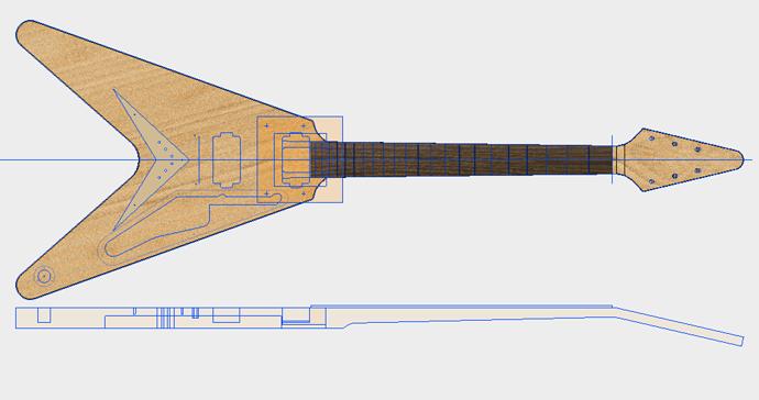 Gibson Flying V (1983 ver) - Models, templates, etc - Luthier ...