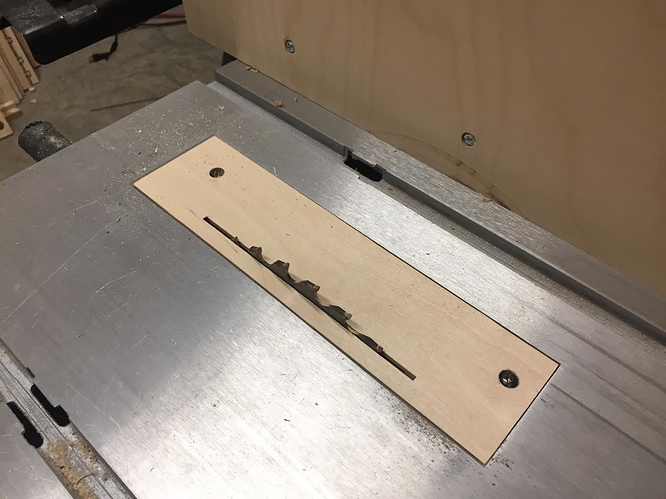 Zero Clearance Insert For Contractor Table Saw Projects
