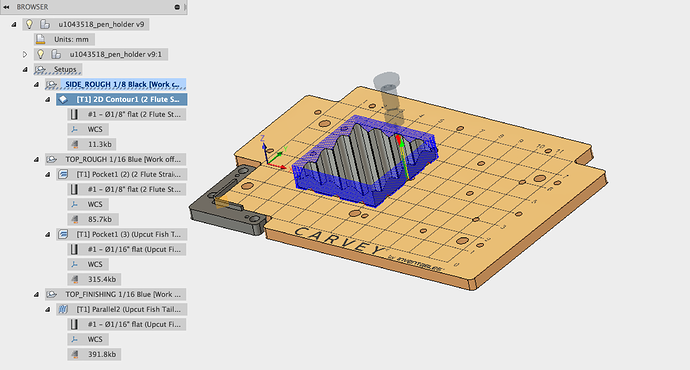 Fusion 360 to Carvey - Smart Clamp Origin? - Easel