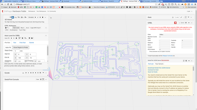 X-Carve Grbl Chilipeppr Autolevel PCB not Working