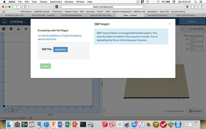 Easel DXF import testing - Easel - Inventables Community Forum