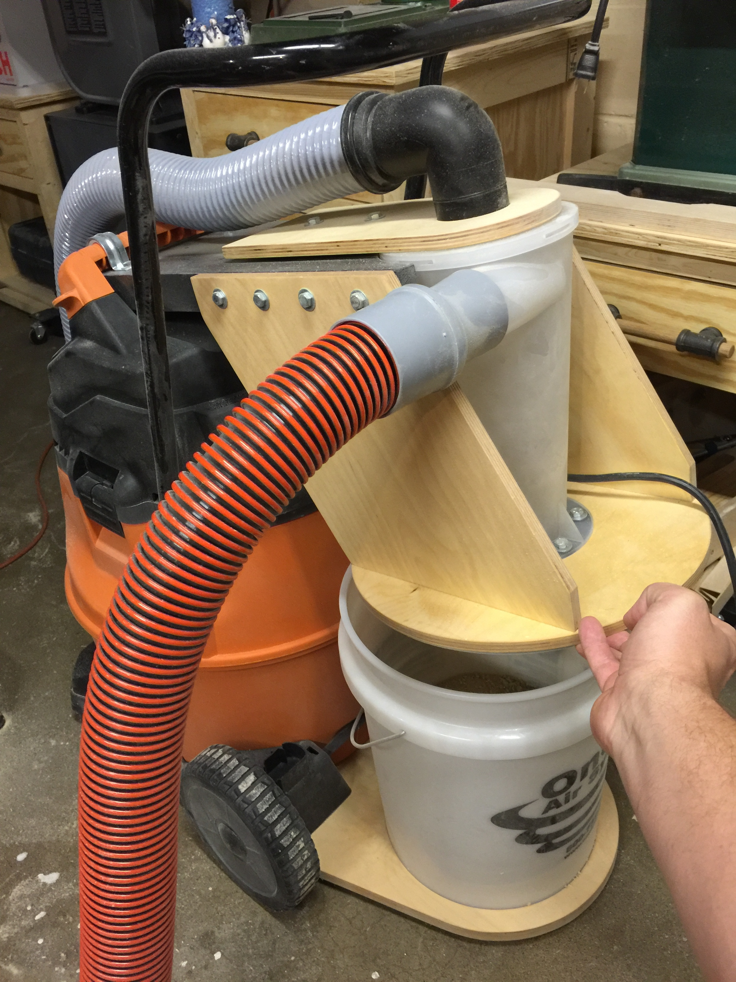 Cyclonic Dust Collection Bucket Projects Inventables