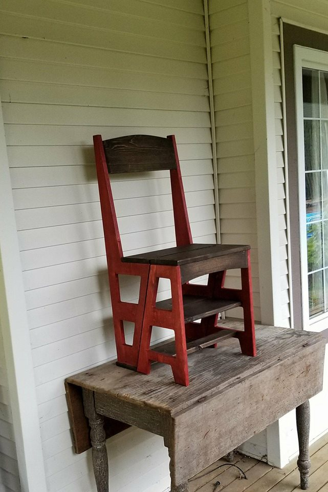 Carolina Cote Chestnut Wood Folding Library Chair 1617 Nc The