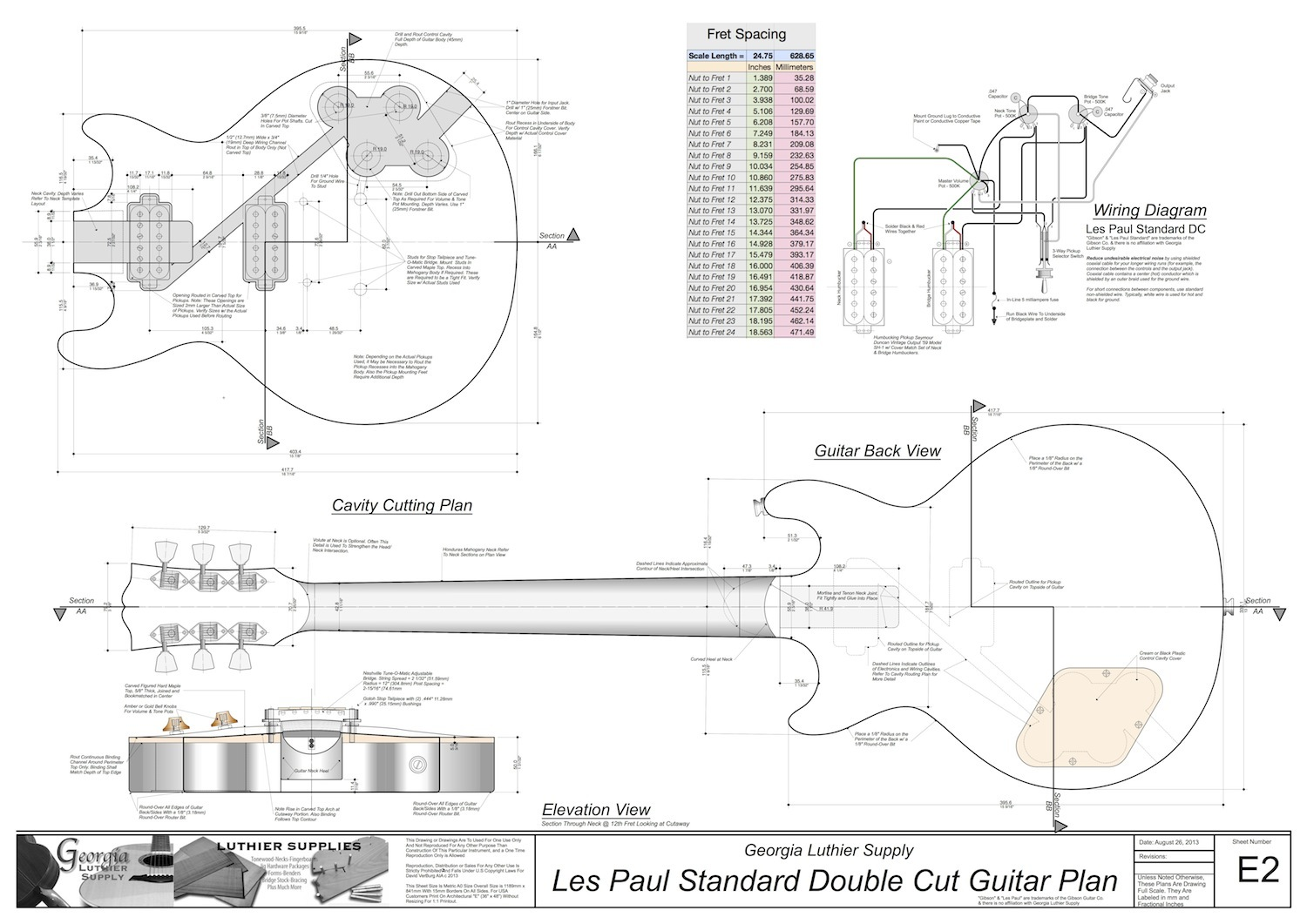 diving in head first      les paul - luthier