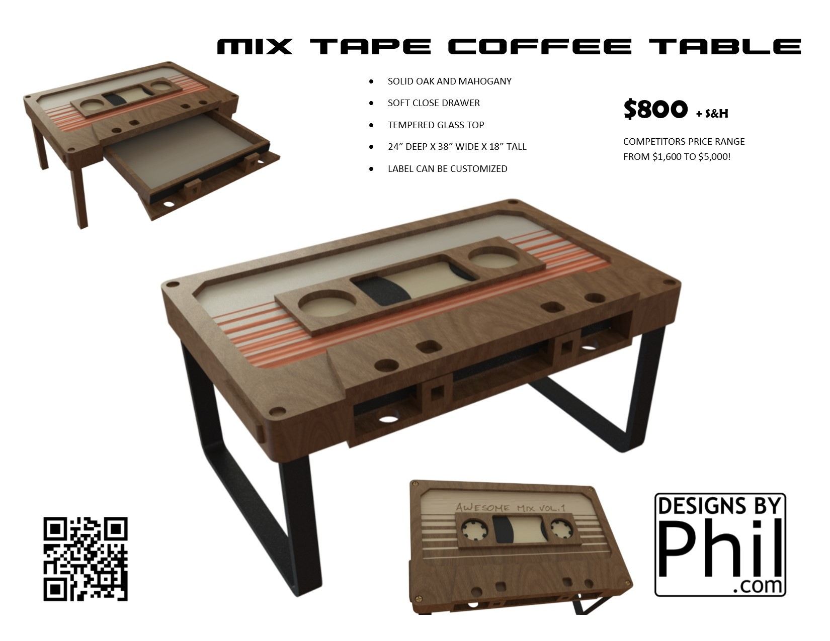 Mixtape coffee table Projects Inventables munity Forum