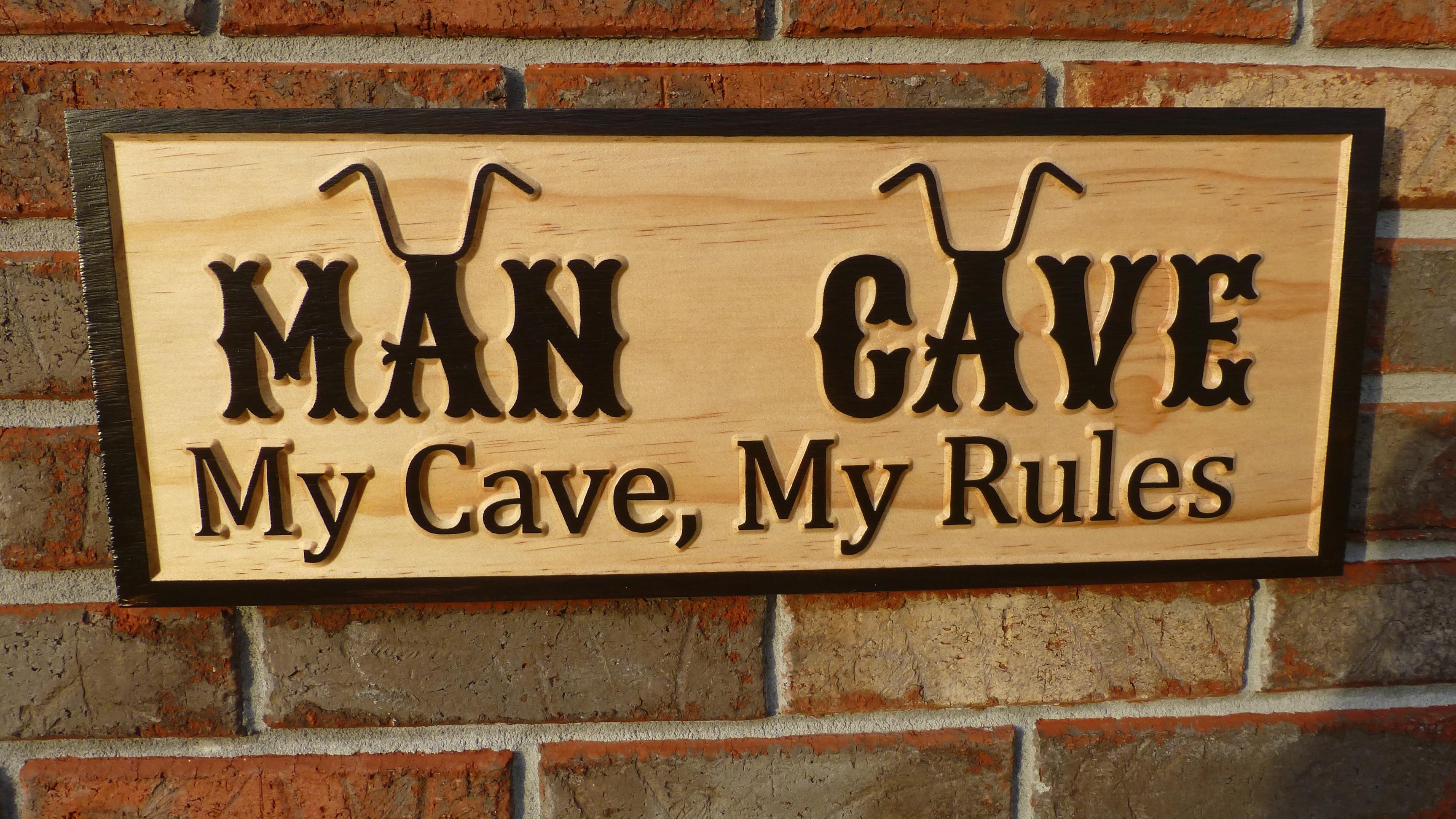 biker theme man cave sign projects inventables. Black Bedroom Furniture Sets. Home Design Ideas