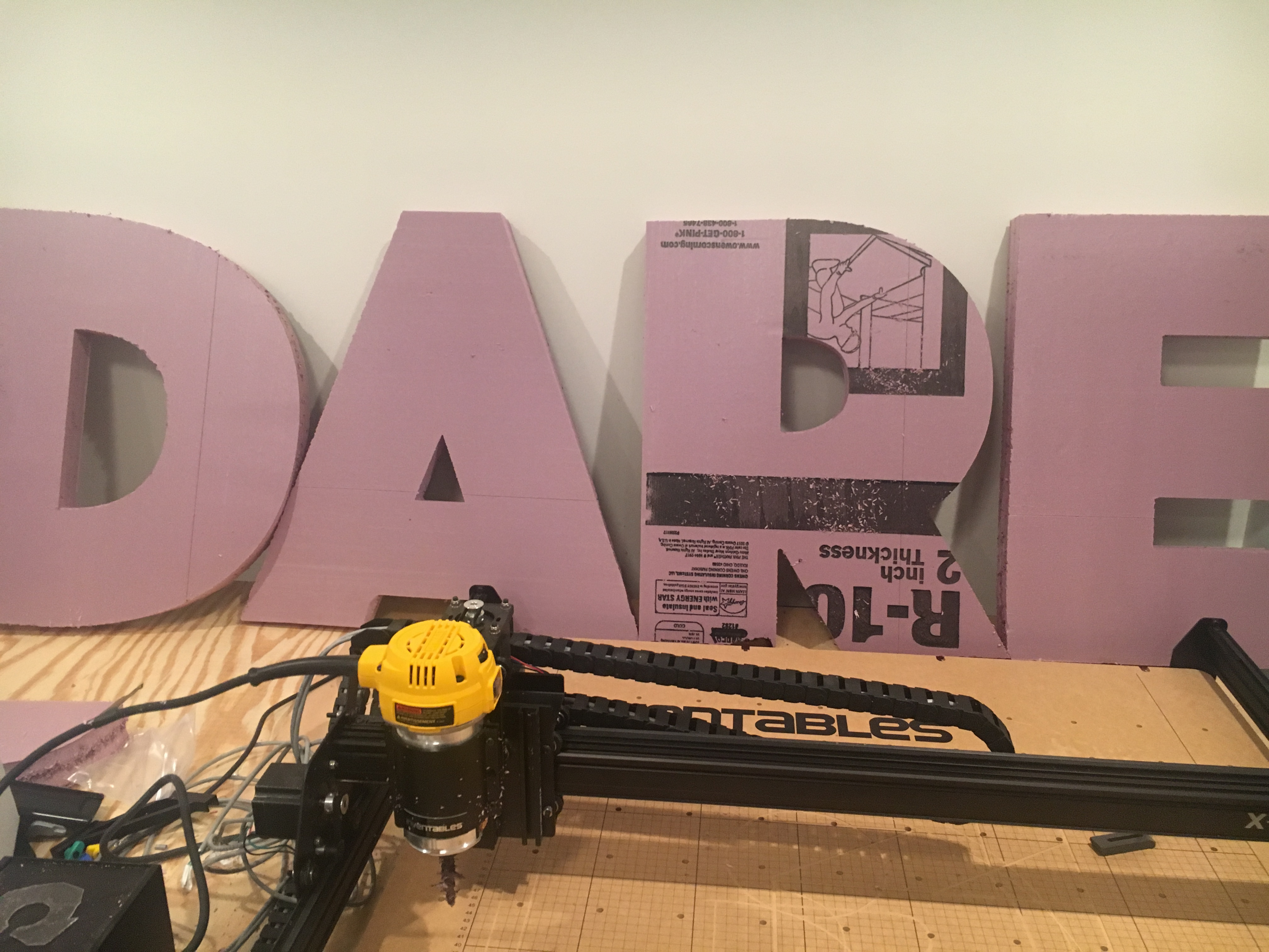 Paid foam letter project - Projects - Inventables Community