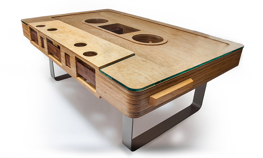 Mixtape Coffee Table Projects Inventables Community Forum - Cassette coffee table