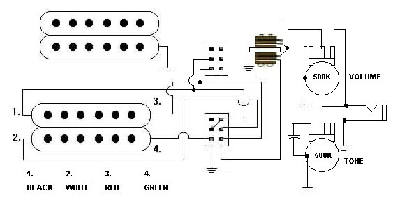 wiring guitar pickups wiring image wiring diagram wiring diagram electric guitar pickups the wiring diagram on wiring guitar pickups