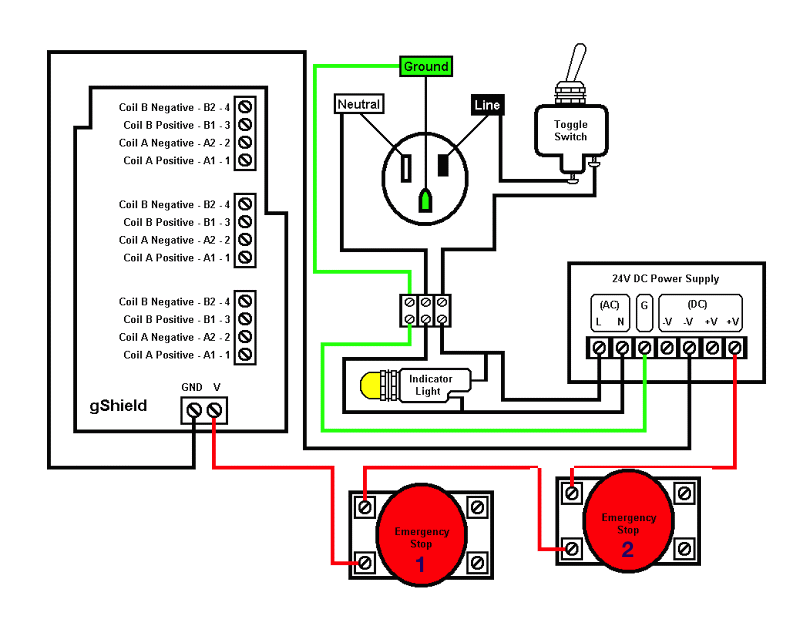 connecting e stop to system inventables community forum rh discuss inventables com E Stop Normally Closed Schematic emergency stop circuit diagram